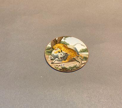 Miniature en micro mosaïque romaine ornée...