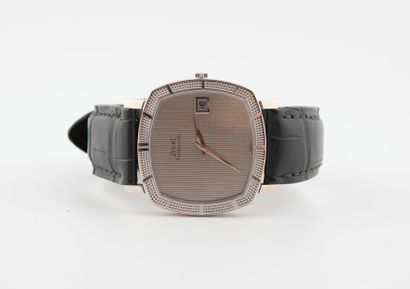 PIAGET. Bracelet montre en or gris 750°/°°,...