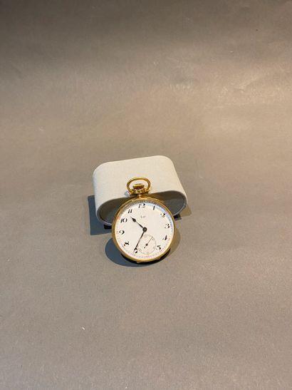 LIP, montre de gousset en or 750°/°°, cadran...
