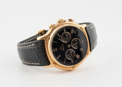EBEL. Bracelet montre en or 750°/°°, chronograph...