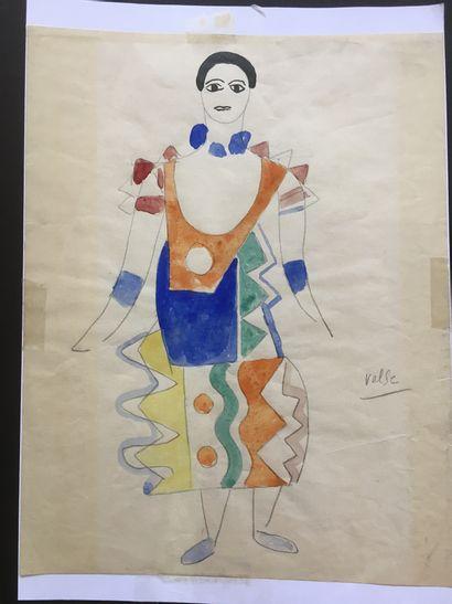 Fernand LEGER (1881-1955)  Costume Valse...