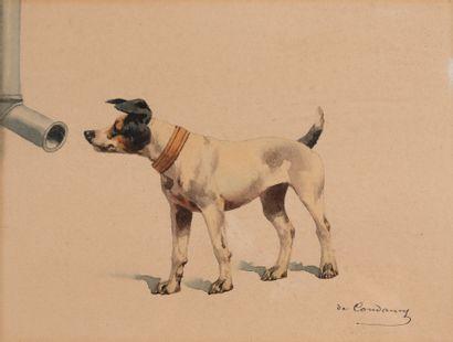 Charles de CONDAMY (1855-1913)  Fox inspectant...