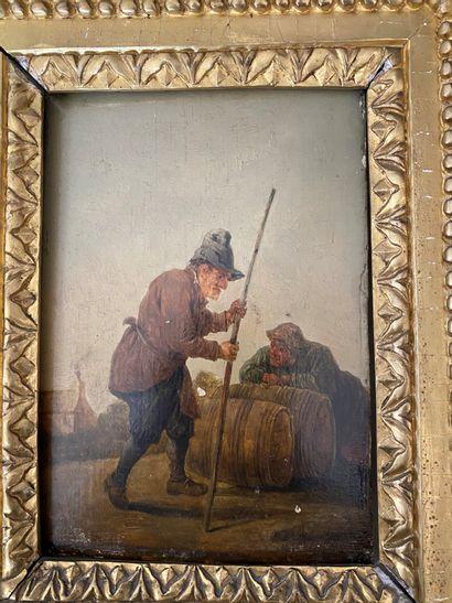 Ecole FLAMANDE du XVIIIème siècle, dans le...