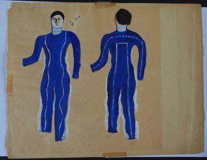 Fernand LEGER (1881-1955)  Projet de costume...