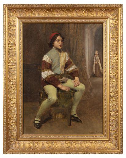 Edouard SAIN (1830-1910)  Jeune garçon  Huile...
