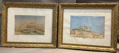 BESSON (XXe siècle)  Paysages orientaux  Deux...