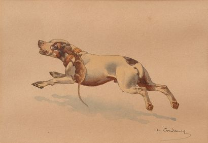 Charles de CONDAMY (1855-1913)  Chien et...