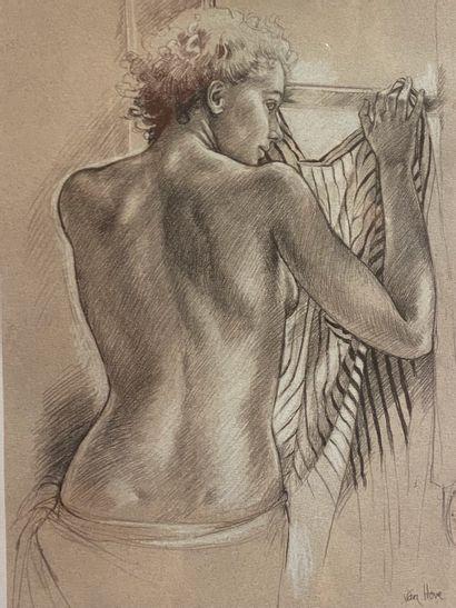 D'après VAN HOVE (XXe)  Femme dos nu à la...