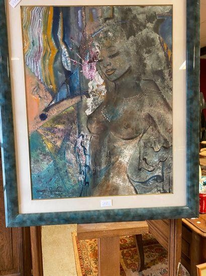 Bruno ZAFFANELLA (Né en 1953)  Jeune femme...