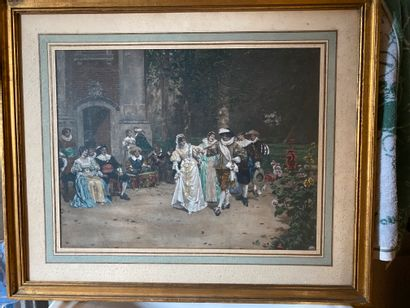 MOREAU Adrien (1843-1906) D'après  Scène...