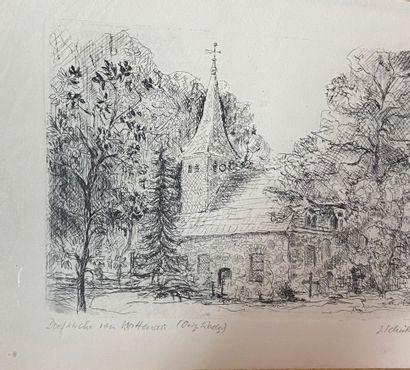 Gravure représentant l'église évangélique...