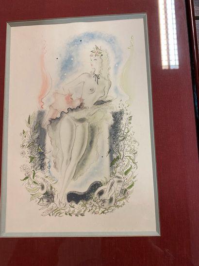 André DIGNIMONT (1891-1965)  Femme aux seins...