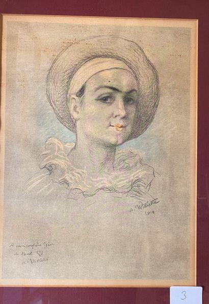 D'après Adolphe WILLETTE (1857-1926)  Pierrot...