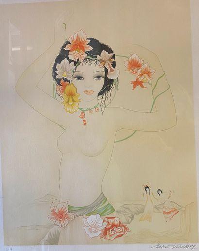 Mara Tranlong (née en 1935)  Vahiné  Lithographie...