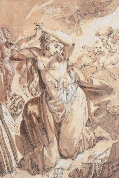 Carlo MARATTA (attribué à) (Camerano, 1625 - Rome, 1713)