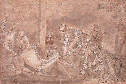 École italienne du XVIIe siècle D'après Jacopo BASSANO (1515-1592)