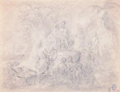 Charles-Nicolas COCHIN (attribué à) (Paris, 1715-1790)