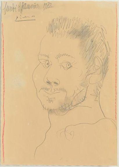 Pablo PICASSO (1881-1973) Portrait d'homme...