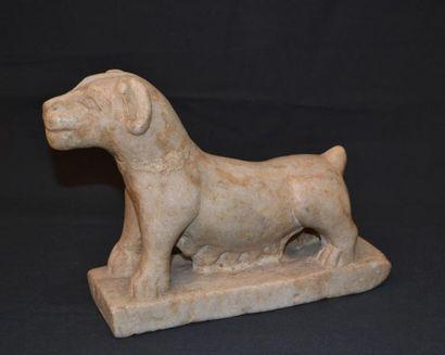 Animal sculpté en pierre Accidents, restaurations...
