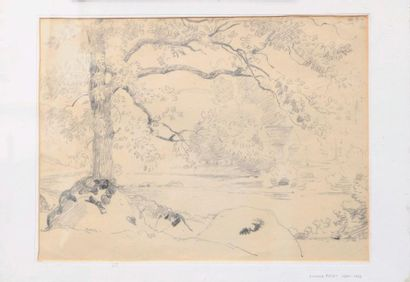 Armand POINT (1860-1932) Paysage de campagne...