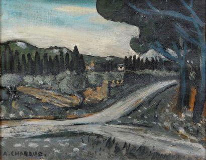 Auguste CHABAUD (1882-1955) Route sous les...