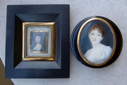 Charles HENARD (1808-?) Portrait de femme...