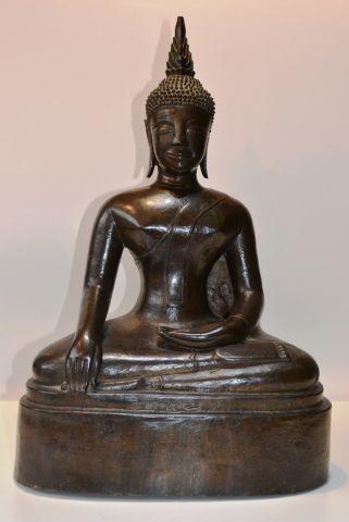 LAOS Bouddha en bronze XVIIIe siècle. H....