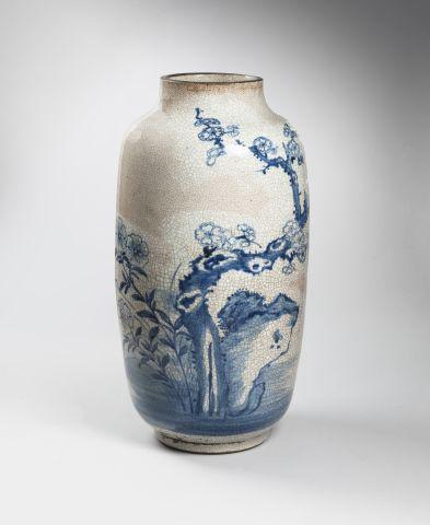 Vase en porcelaine de Nankin, à décor en...