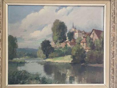 Georges ROBIN (1895-1981) Au bord du fleuve....