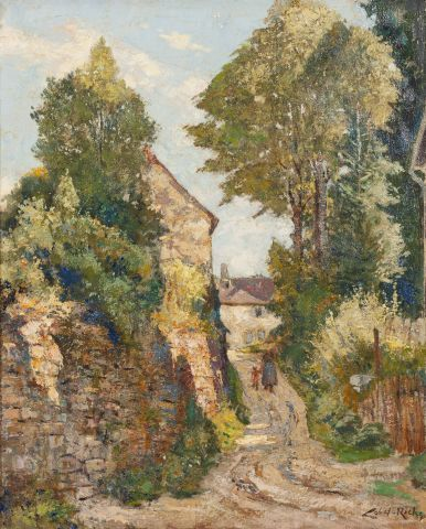 Albery LOBEL-RICHE (1880-1950). Chemin animé....