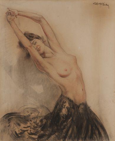 Albery LOBEL-RICHE (1880-1950) Danseuse nue....