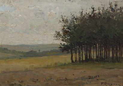 Fernand QUIGNON (1854-1941) Paysage de campagne....