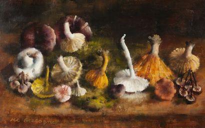 Marie-Thérèse BRETAGNE (XXe). Les champignon....