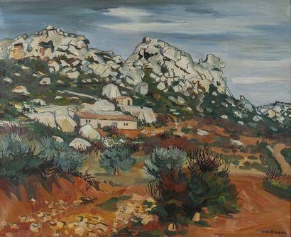 Yves BRAYER (1907-1990) La bergerie au pied...