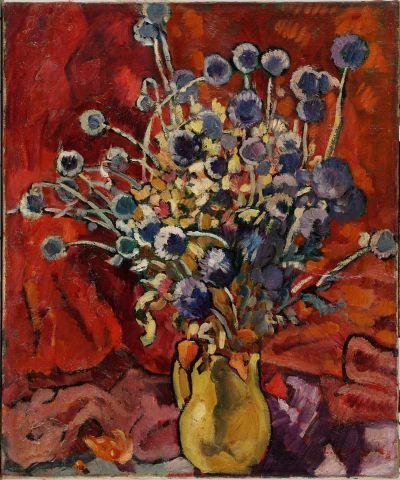 Louis VALTAT (1869-1952) Bouquet de chardons...