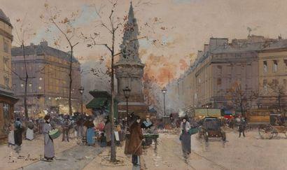 Eugène GALIEN-LALOUE (1854-1941) Place de...
