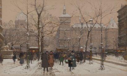 Eugène GALIEN-LALOUE (1854-1941) Place du...