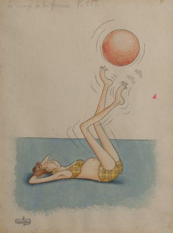 Albert DUBOUT (1905-1976) Le visage de la...