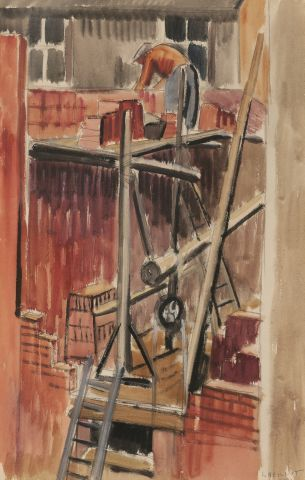 Louis NEILLOT (1898-1973) Echafaudage 1931....