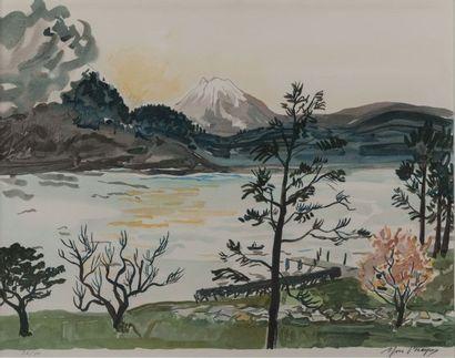 Yves BRAYER (1907-1990) Lac et montagnes....