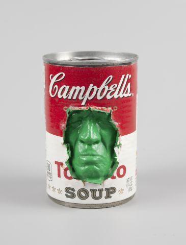 GREGOS (né en 1972) Campbell's vert Technique...