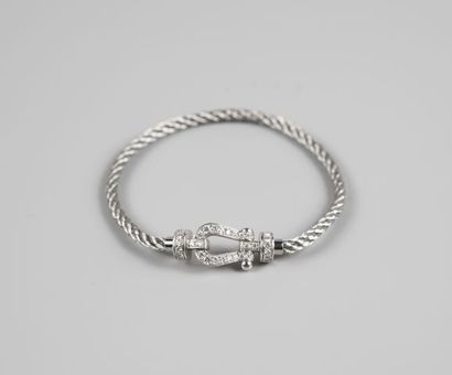 Bracelet FRED Force 10 en acier et or gris...