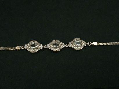 Bracelet en vermeil orné de morganites et...