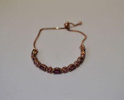 Bracelet en vermeil serti de pierres fines...