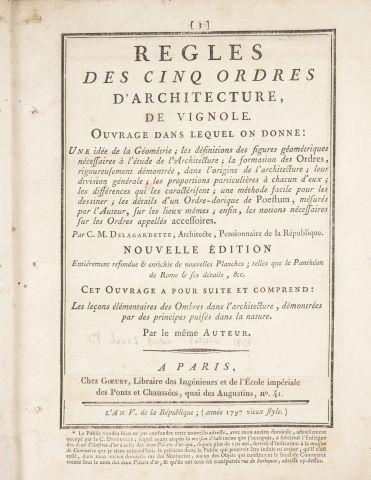 Claude-Mathieu DELAGARDETTE. Règles des Cinq...