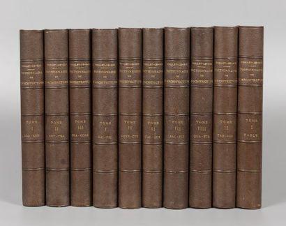 Eugène-Emmanuel VIOLLET-LE-DUC. Dictionnaire...