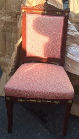 Suite de 5 chaises en acajou. Style Empi...