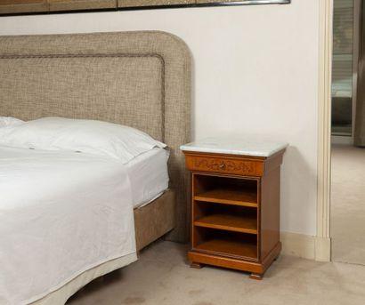 Tête ( H. 110 L. 180 cm) et pied de lit ...