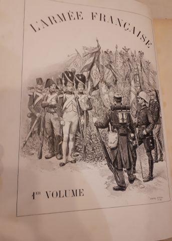 Edouard DETAILLE. L'Armée Française. Types et Uniformes. Relié demi-chagrin 188...