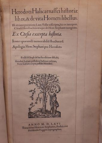 HERODOTE. Historia lib. IX. ... Apologia...